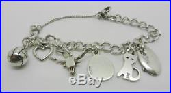 James Avery Sterling Silver Single Curb Charm Bracelet With 6-charms Lb-c1978