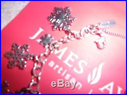 James Avery Sterling Silver Snowflake Charm Bracelet 8 All Different SiZe Medium