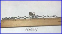 James Avery Sterling Silver Twisted Oval Charm Bracelet Bronze Verona Lock Charm