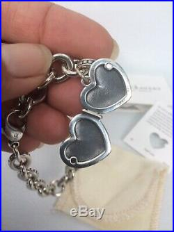 James Avery sterling Silver 925 Heart Locket Charm Bracelet