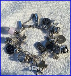 James avery sterling silver 925 charm bracelet 18 charms some retired