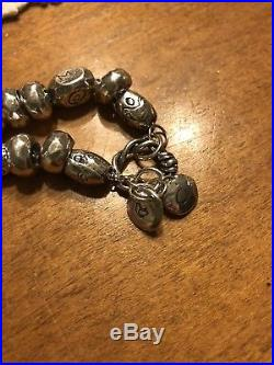 Jes MaHarry Sterling Silver Bead Charm Bracelet Up To 8 Inches Final Markdown