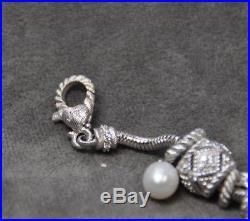 Judith Ripka Silver Charm Bracelet with 11 Charms (TEB)