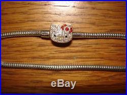 54bcd876e Kay Jewelers Charmed Memories Hello Kitty Swarovski Sterling Silver Bracelet  New