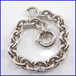 Kieselstein Cord Sterling Silver Rolo Chain Link Charm Heavy Bracelet 6.5 LDE4