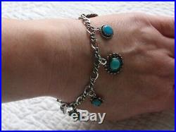 LAST CHANCE! Sterling Silver James Avery Charm Bracelet TURQUOISE Southwest