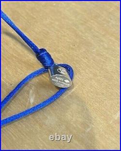 LOUIS VUITTON UNICEF NEW Lockit Lock Sterling Silver Blue Charm String Bracelet