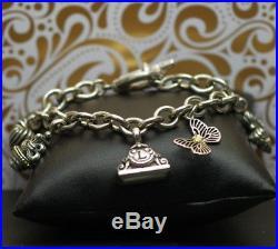 Lagos Multi Charm Bracelet 925 Sterling Silver 18k Gold