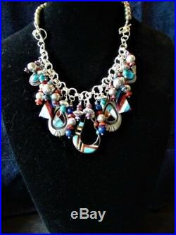 Loaded Sterling Silver Charm Bracelet- Native American Charms