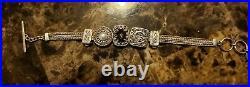Lori Bonn Sterling Silver Slide Charm Bracelet with Gemstones. 925