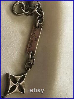 Louis Vuitton Vintage Sterling Silver Link Charm Signature LV Bracelet