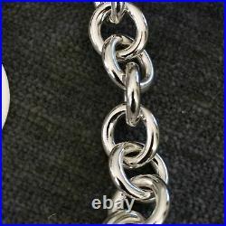 Medium Please Return to Tiffany & Co Sterling Silver Round Circle Charm Bracelet