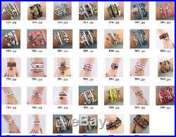 NEW 200pcs Fashion Jewelry Leather Cute Infinity Charm Bracelet Silver MIX Style
