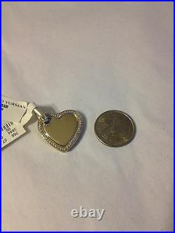 New David Yurman Silver Diamond Heart Pendant Enhancer Charm Necklace Bracelet