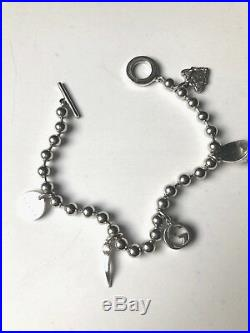 New Original Gucci Women's Sterling Silver Charm Bracelet