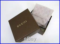 New Original Gucci Womens Sterling Silver Heart Charm Bracelet YBA356210001018
