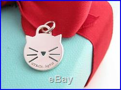 New Tiffany & Co Silver 925 Return To Cat Charm Pendant 4 Necklace Bracelet