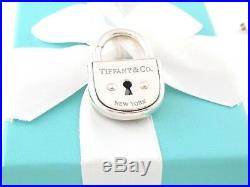 New Tiffany & Co Silver Arc Lock Pendant Charm 4 Necklace Bracelet Packaging