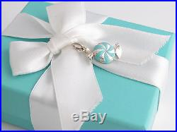 New Tiffany & Co Silver Blue Bon Bon Enamel Candy Charm For Bracelet Necklace