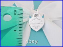 New Tiffany & Co Silver Return To Devil Blue Enamel Charm Necklace Bracelet