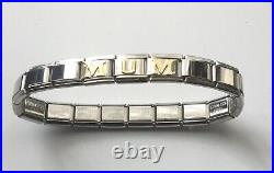 Nomination style Mum bracelet with fits 9mm classic Italian charms -Great gift