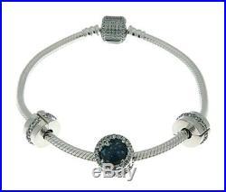 PANDORA Dazzling Snowflake Bracelet Gift Set, With Three Charms B800643-19cm 7.5