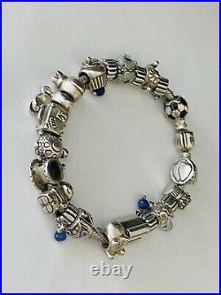 PANDORA8 Sterling Silver Fully Loaded Bracelet with 22 CharmsRETIREDALE/925