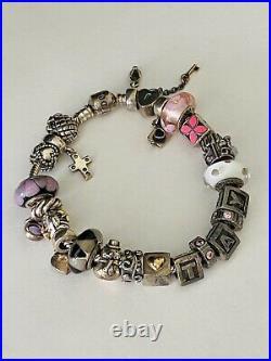PANDORA8 Sterling Silver Fully Loaded Bracelet with 23 CharmsRETIREDALE/925