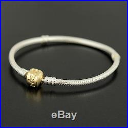 Pandora ALE silver charm bracelet with 14k gold clasp 590702hg-19 7.5 inches