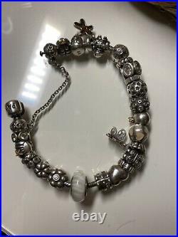 Pandora Bracelet Full Of Charms Silver Used Bead Charm Genuine. RRP £700+