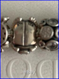 Pandora Bracelet With 6 Charms All Original Sz 8