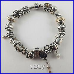 Pandora Charm Bracelet 20cm Boxed and with Charms