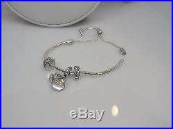 Pandora Dazzling Wishes Bracelet + 3 Charms Gift Set OSFA ALL SIZES YAY! + GIFT