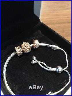 Pandora Moments Silver Sliding Bracelet With 3 Charms