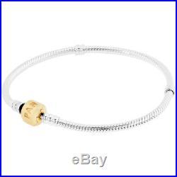 Pandora Serling Silver And 14K Gold Ladies Charm Bracelet 590702Hg19