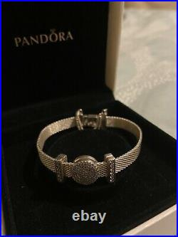 Pandora Silver Reflexions Bracelet Size 18cm With Charms & Safety Chain Rrp £195
