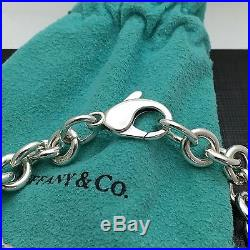 Please Return To Tiffany & Co Sterling Silver Center Heart Tag Charm Bracelet