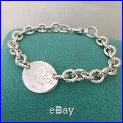 Please Return To Tiffany & Co. Sterling Silver Oval Tag Charm Bracelet