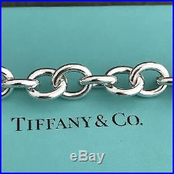 Please Return to Tiffany & Co Sterling Silver Heart Tag Charm Bracelet