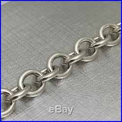 Please Return to Tiffany & Co Sterling Silver Heart Tag Charm Bracelet 7.5