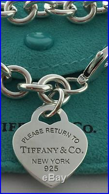 Tiffany Heart Bracelet >> Please return to Tiffany & co. New York sterling silver ...