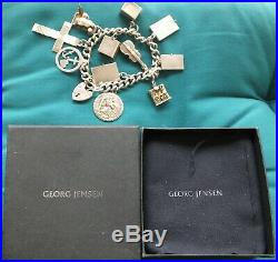 Quality Georg Jensen Sterling Silver Charm Bracelet 11 GJ Charms