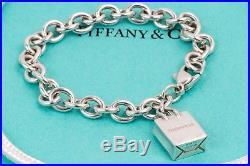 c0f7b4cc3 RARE Tiffany Shopping Bag Charm Bracelet 925 Sterling Silver 7 Inch ...