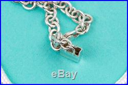 RARE Tiffany Shopping Bag Charm Bracelet 925 Sterling Silver 7 Inch