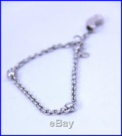 RARE Vintage Tiffany & Co. 925 Sterling Silver Moon Charm Bracelet