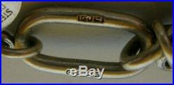 Rare GEORG JENSEN Sterling Silver 9 Charms Bracelet Turtle Seahorse Elephant