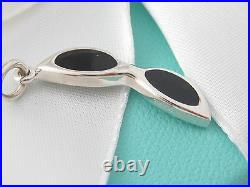Rare New Tiffany & Co Silver Sunglasses Charm For Necklace Or Bracelet