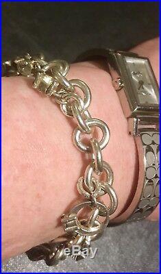 Rare Tiffany & Co Tiffany Co Bracelet Authentic Sterling Silver Charm Bracelet