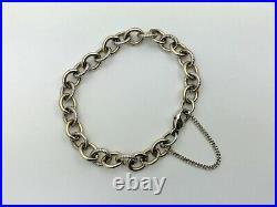 Retired James Avery 14K Yellow Gold & Sterling Silver Link Charm Bracelet 6 3/4