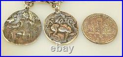 Retired Silpada B1624 Heavy Sterling Silver Roman Coin Replica Charm Bracelet
